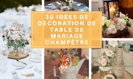 30 idées de décoration de table de mariage champêtre