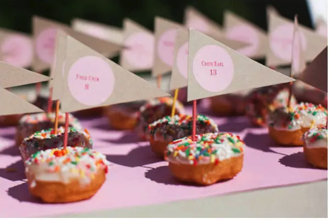 Marque-place Donut mariage