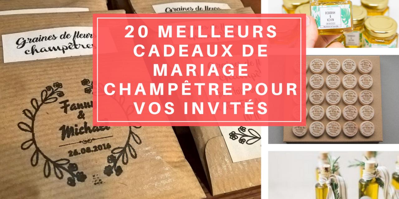 20 meilleurs cadeaux de mariage champêtre pour vos invités
