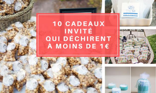 10 Cadeaux invité de mariage à moins de 1€