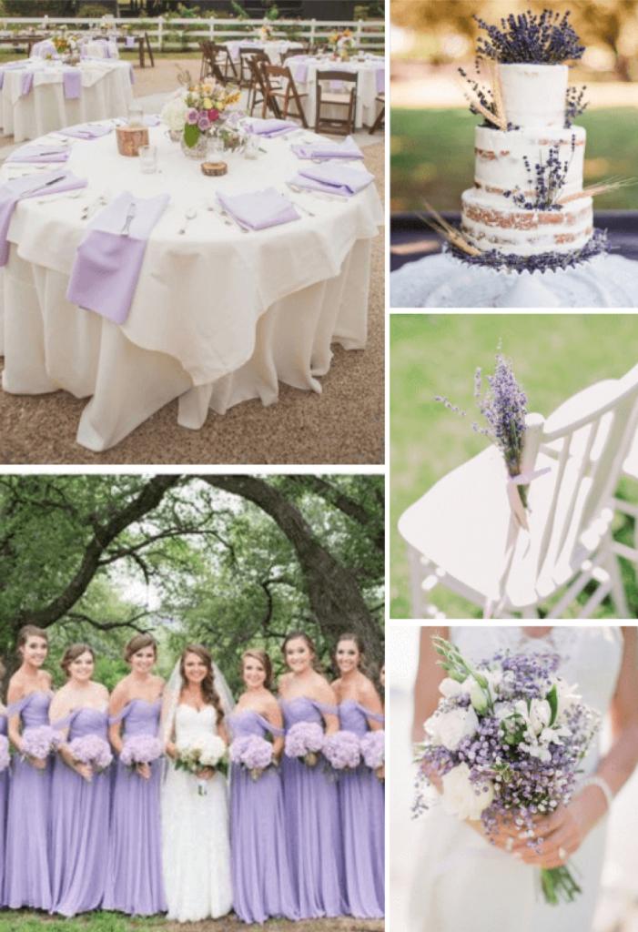 8 idées de couleurs de mariage d'été rustique populaires pour 2019 - Lavande