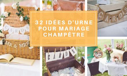 32 idées d'Urne pour mariage champêtre