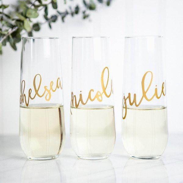 Cadeau invité flûte à champagne