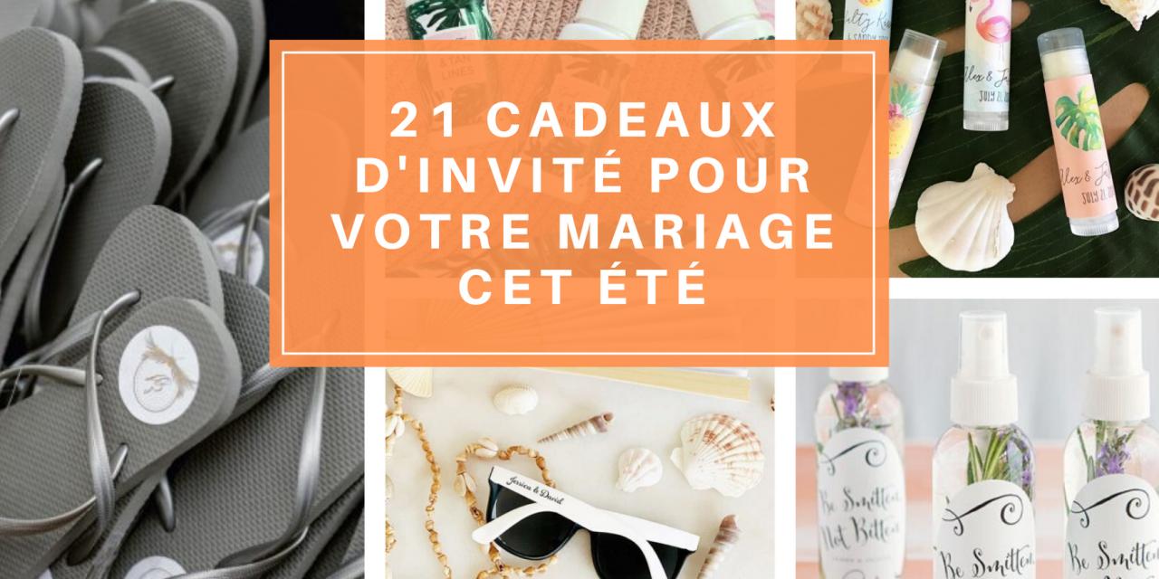 21 cadeaux d'invité pour votre mariage été 2020