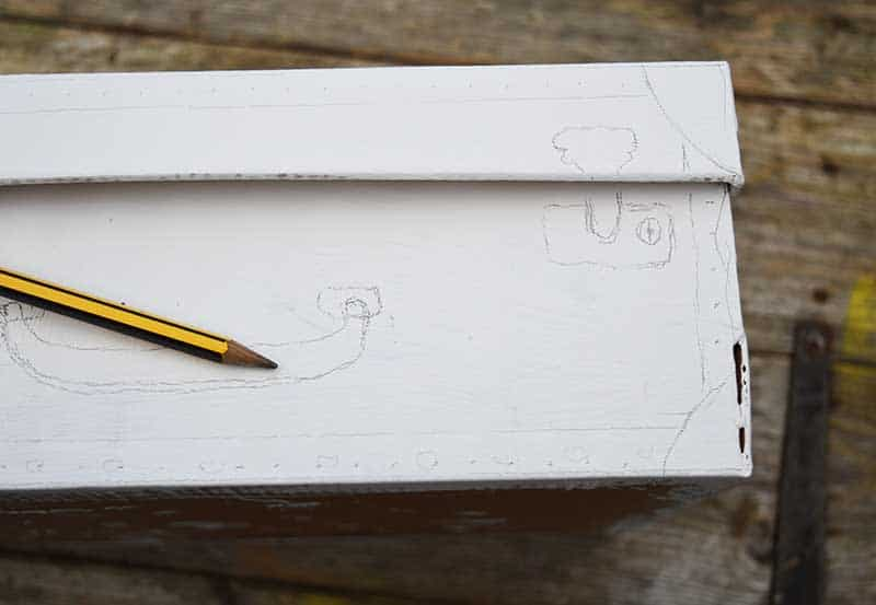 drawing on shoe box s