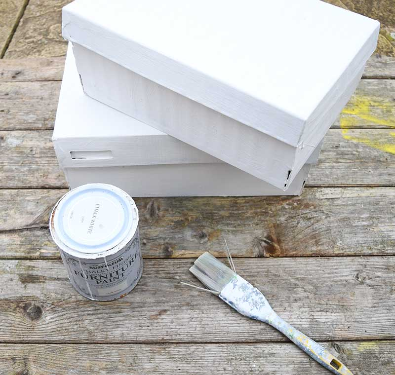 painted shoe box craft 2s
