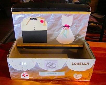 urne pour cartes mariage boite à chaussure