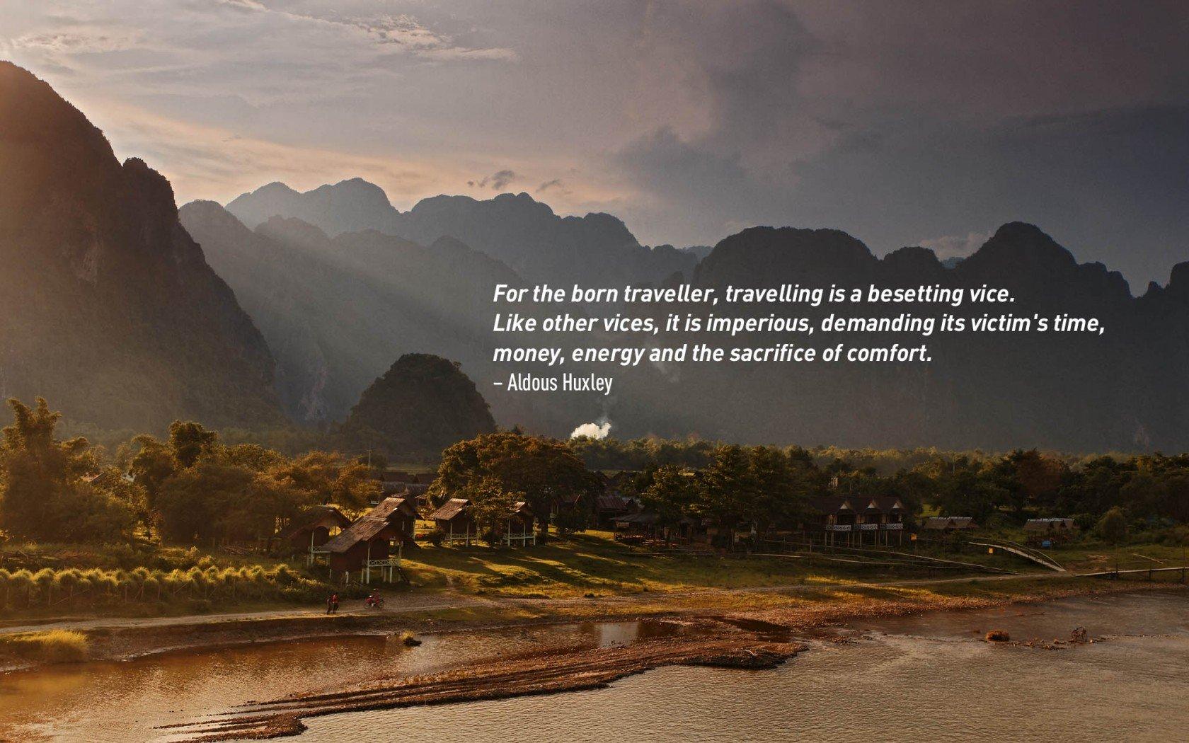Citation inspirante de voyage par Aldous Huxley.