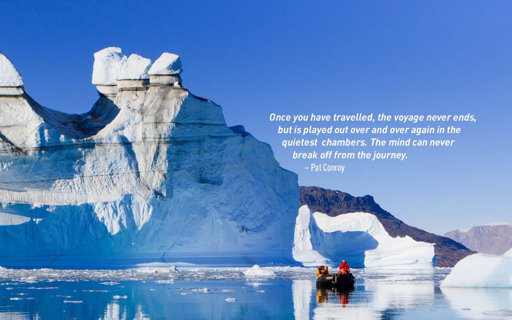 Citation inspirante de voyage par Pat Conroy.