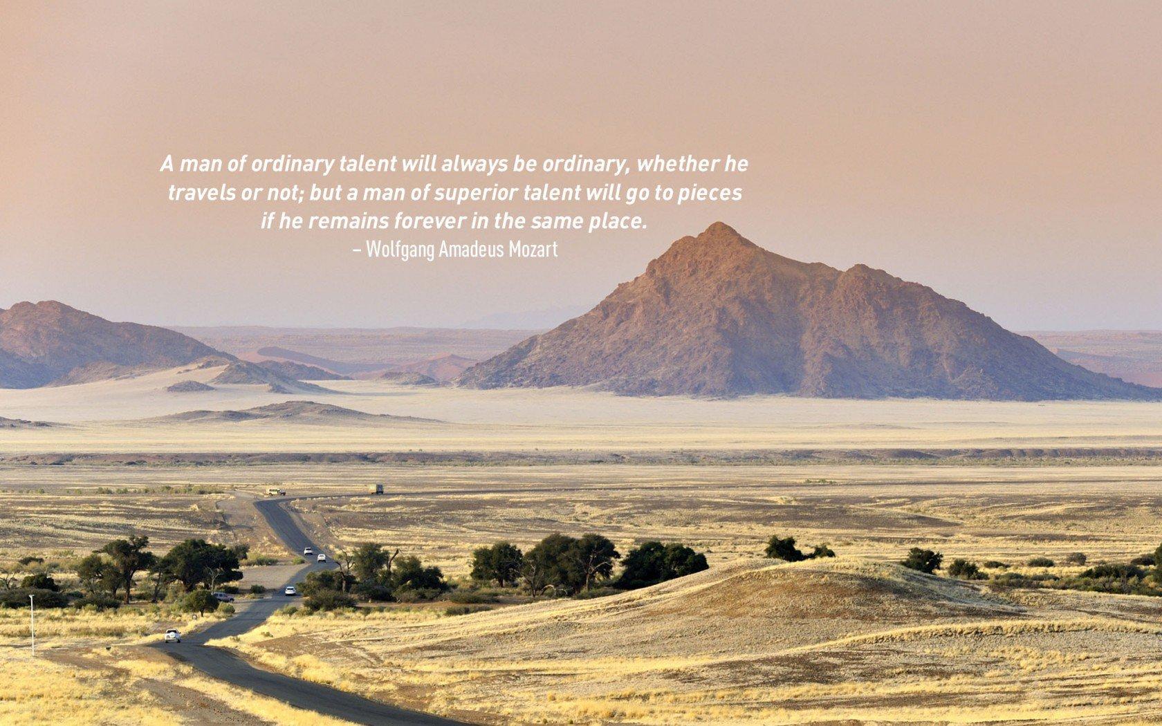 Citation de voyage par Wolfgang Amadeus Mozart.