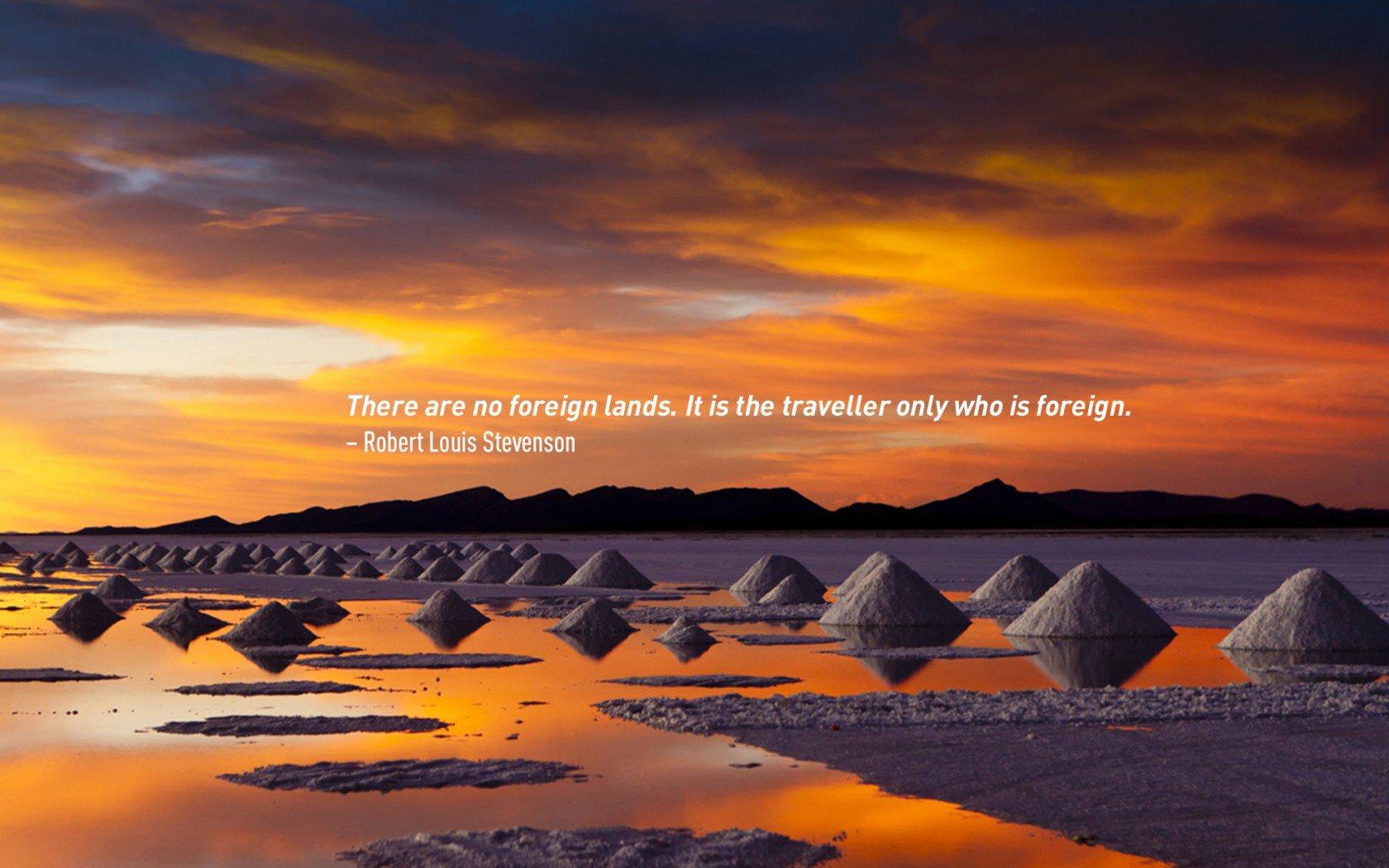 Robert Louis Stevenson, célèbre citation de voyage.