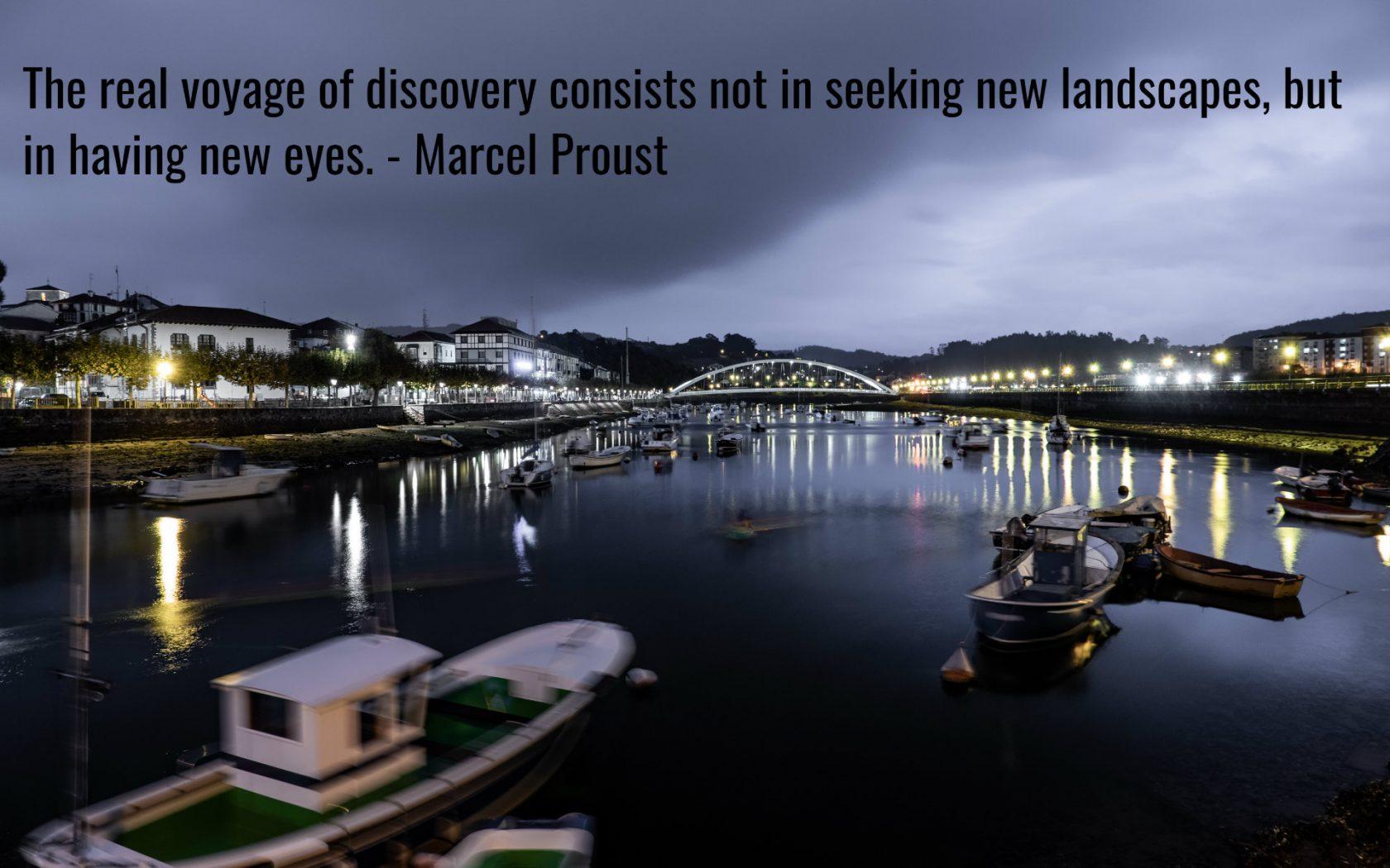 Citation de voyage inspirante de Marcel Proust.