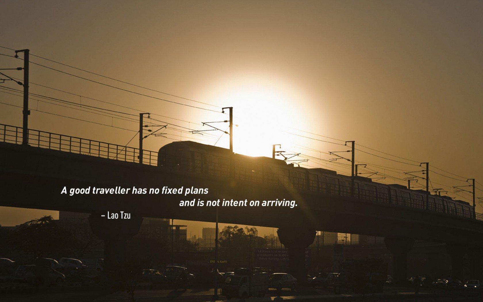 Citation de voyage inspirante de Lao Tzu.