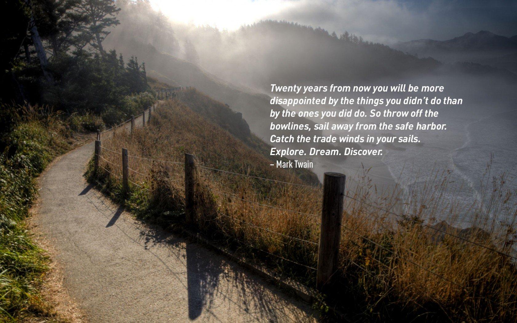 Mark Twain célèbre citation de voyage.