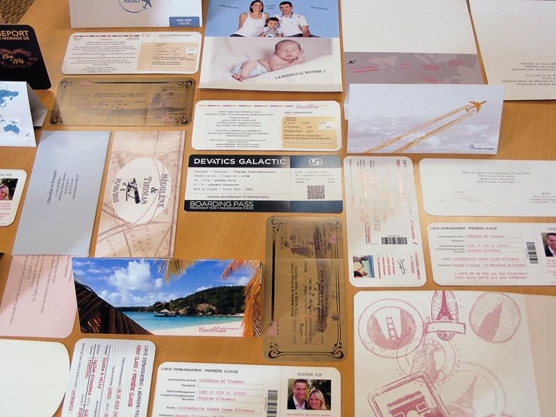 Invitation de mariage Billet d'avion pas cher avec carte d'embarquement pour un voyage à thème de mariage