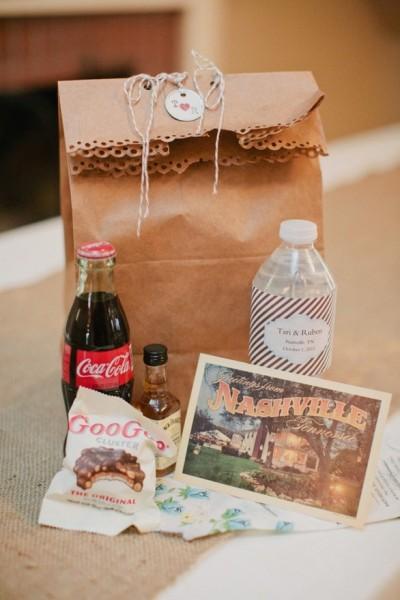cadeaux invités de mariage à destination de Nashville