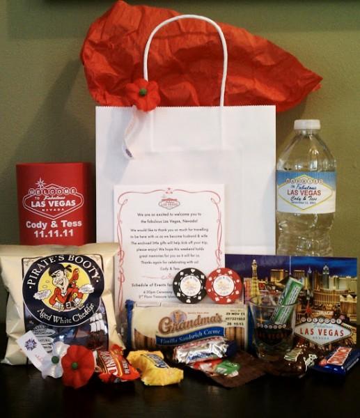 cadeaux invités de mariage à destination de Las Vegas