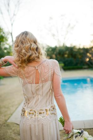 Robe Jenny Packham avec ornements dorés