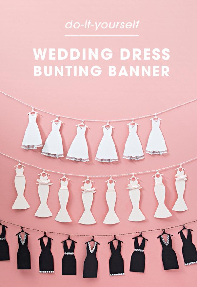 Bannière de bruant de robe de mariée