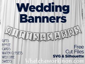 Fichiers SVG de bannières de mariage