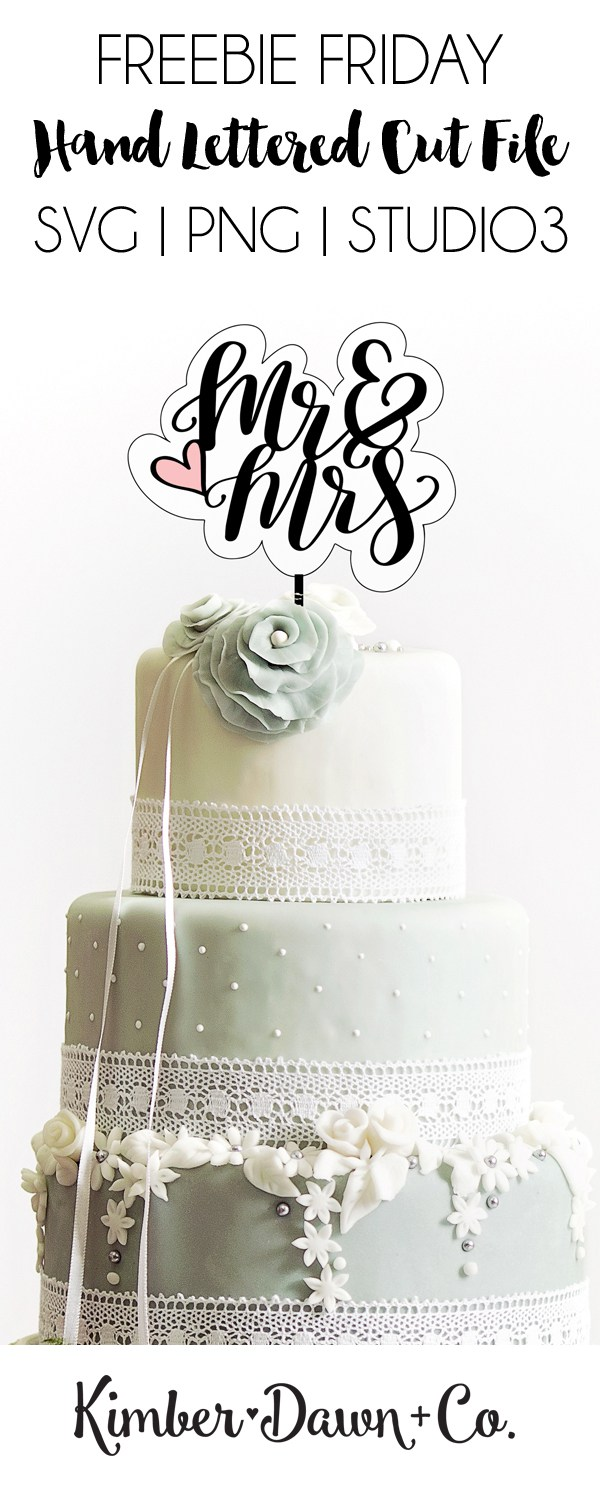 Mr et Mme Cake Topper