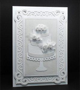 Carte de gâteau de mariage