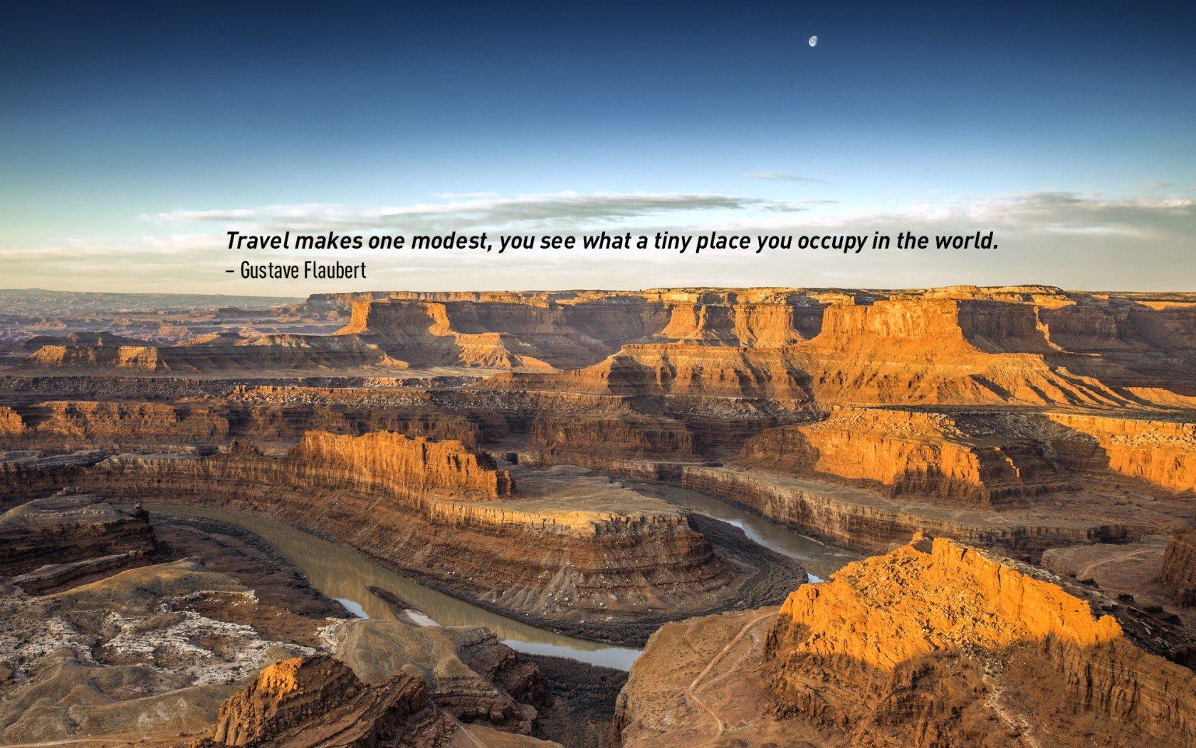 Citation de voyage de Gustave Flaubert. Grand Canyon, États-Unis.