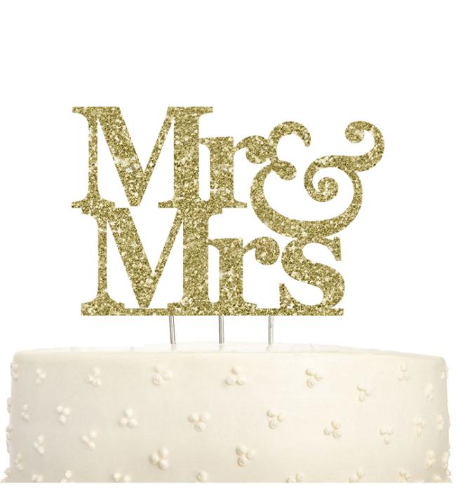 M. et Mme Cake Topper
