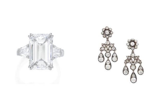 Bijoux vendus aux enchères par Sotheby's qui ont dépassé les attentes de vente lors du verrouillage.