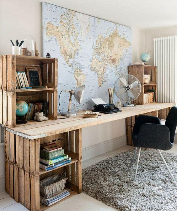 couvrir un mur dans votre bureau à domicile avec une grande carte du monde ou d'un pays et pointer les endroits où vous avez déjà été