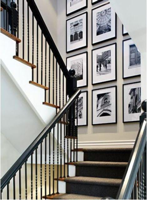 un mur de galerie en noir et blanc est une idée élégante pour chaque maison