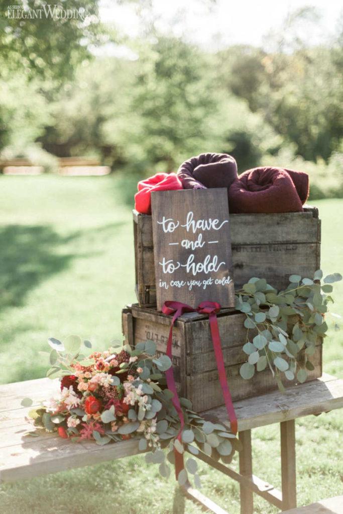 Décor de signe de mariage champêtre