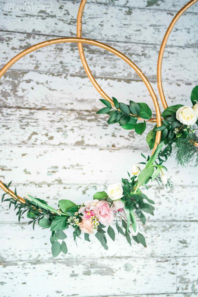 Cerceaux floraux de mariage