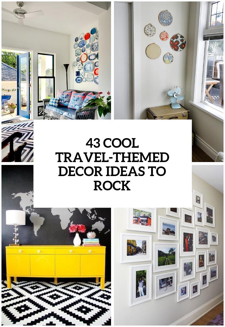 idées de décoration inspirées des voyages cool à couvrir de rock
