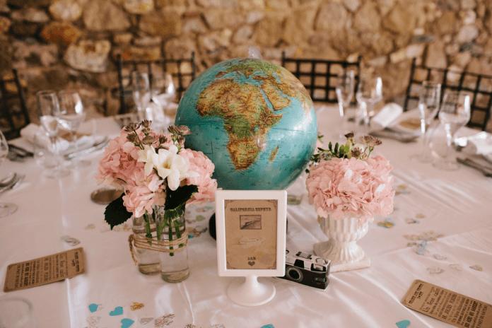 décoration de mariage thème voyage